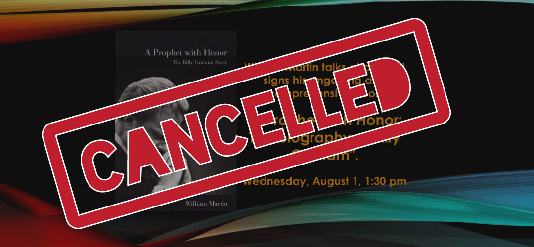 Cancelled Author Signing